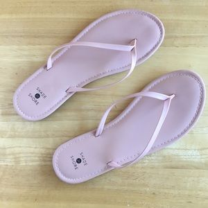 NWOT Shade and Shore Pink Flip flop sandals